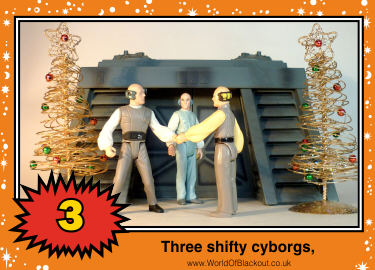 Three shifty cyborgs,