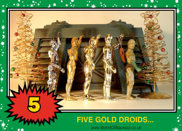 - FIVE GOLD DROIDS -