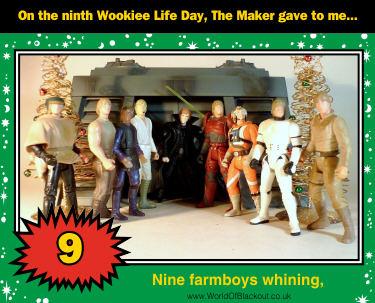 Nine farmboys whining,