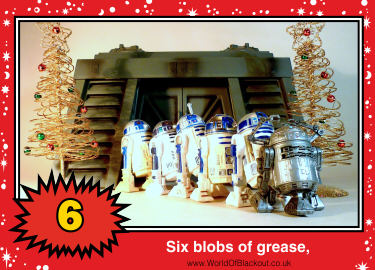 Six blobs of grease,