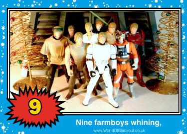 Nine farmboys whining,