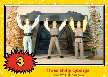 Three shifty cyborgs,