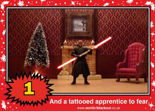 On the second Wookiee Life Day, the Dark Side gave to me: A tattooed apprentice to fear...