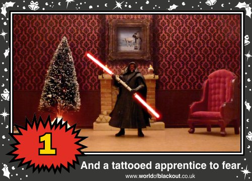 On the third Wookiee Life Day, the Dark Side gave to me: A tattooed apprentice to fear...