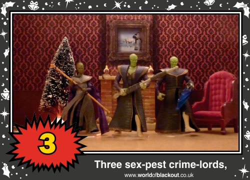 On the fourth Wookiee Life Day, the Dark Side gave to me: Three sex-pest crime-lords...