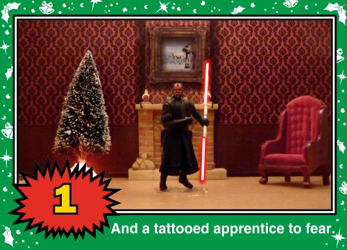 On the fourth Wookiee Life Day, the Dark Side gave to me: A tattooed apprentice to fear...