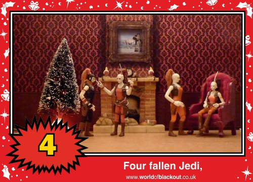On the fifth Wookiee Life Day, the Dark Side gave to me: Four fallen Jedi...