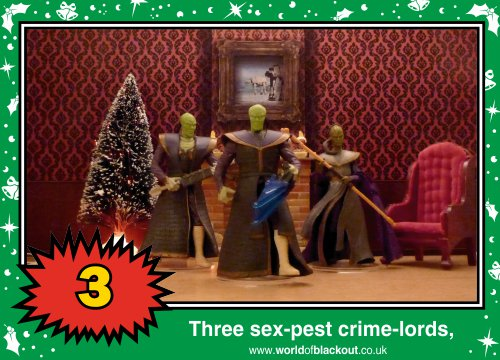 On the fifth Wookiee Life Day, the Dark Side gave to me: Three sex-pest crime-lords...