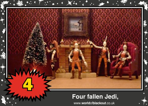 On the sixth Wookiee Life Day, the Dark Side gave to me: Four fallen Jedi...