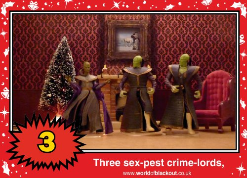 On the sixth Wookiee Life Day, the Dark Side gave to me: Three sex-pest crime-lords...