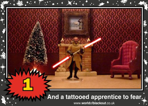 On the sixth Wookiee Life Day, the Dark Side gave to me: A tattooed apprentice to fear...