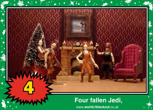 On the seventh Wookiee Life Day, the Dark Side gave to me: Four fallen Jedi...