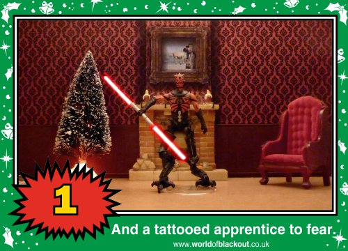 On the seventh Wookiee Life Day, the Dark Side gave to me: A tattooed apprentice to fear...