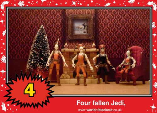 On the eighth Wookiee Life Day, the Dark Side gave to me: Four fallen Jedi...