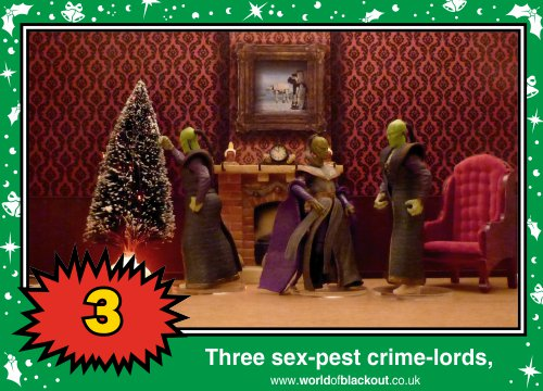 On the eighth Wookiee Life Day, the Dark Side gave to me: Three sex-pest crime-lords...