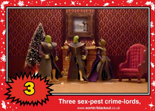 On the ninth Wookiee Life Day, the Dark Side gave to me: Three sex-pest crime-lords...