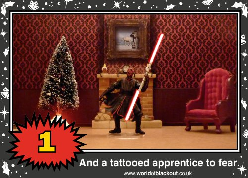 On the ninth Wookiee Life Day, the Dark Side gave to me: A tattooed apprentice to fear...