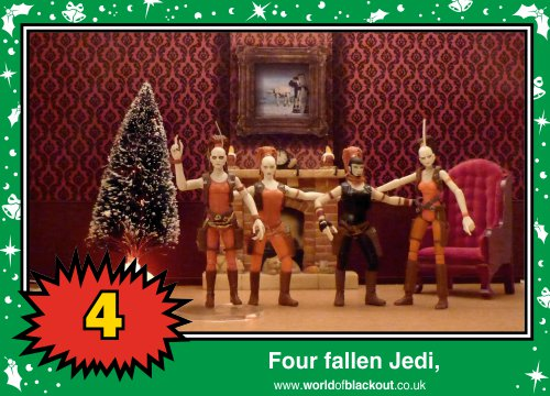 On the tenth Wookiee Life Day, the Dark Side gave to me: Four fallen Jedi...