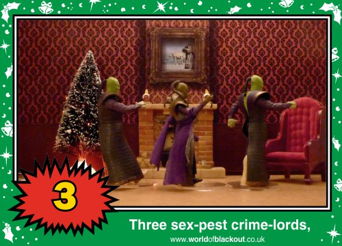 On the eleventh Wookiee Life Day, the Dark Side gave to me: Three sex-pest crime-lords...