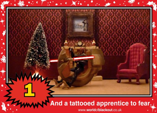 On the eleventh Wookiee Life Day, the Dark Side gave to me: A tattooed apprentice to fear...