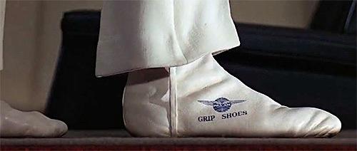Grip shoes.