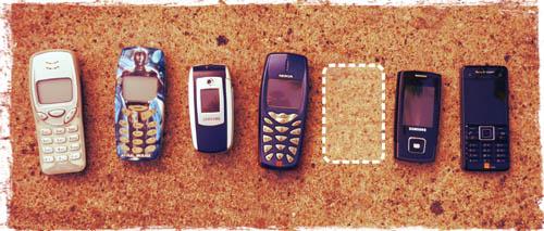 Nokia, Nokia, Samsung. Nokia, Samsung, Samsung, Sony.