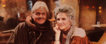 Bea Arthur and Harvey Korman, chilling between takes. Click for bigger.
