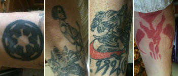 My good friend Rixy's SW tats...
