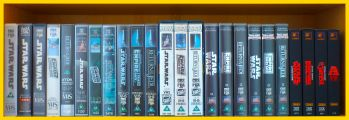 Row 1 of the Star Wars VHS Collection. Click for bigger.