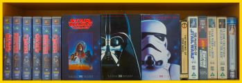 Row 2 of the Star Wars VHS Collection. Click for bigger.