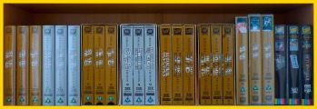 Row 3 of the Star Wars VHS Collection. Click for bigger.