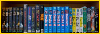 Row 4 of the Star Wars VHS Collection. Click for bigger.