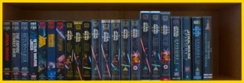 Row 6 of the Star Wars VHS Collection. Click for bigger.
