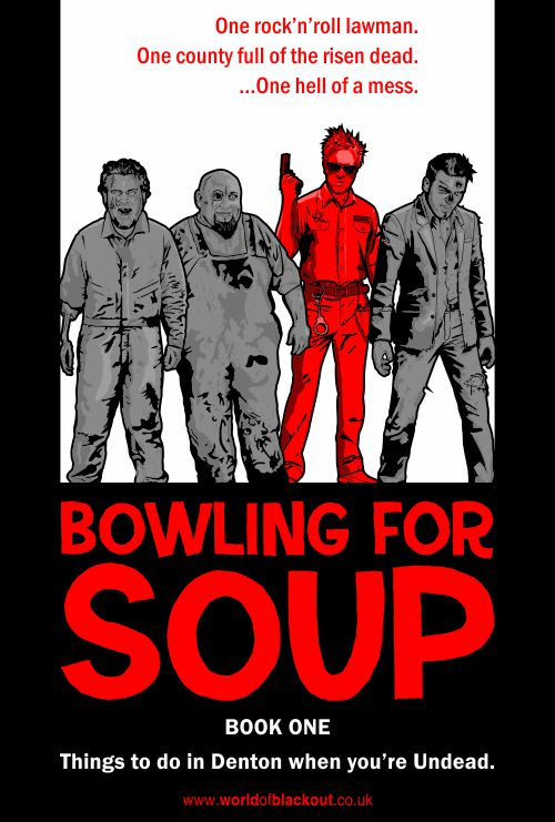 Bowling for Soup: Things To Do In Denton When You're Undead, graphic novel cover.