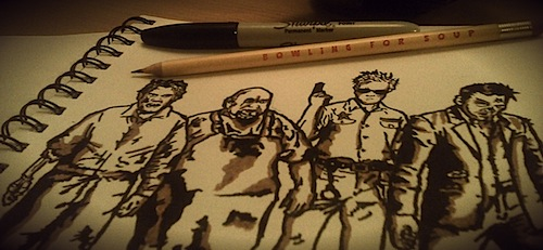 Bowling for Soup: Things To Do In Denton When You're Undead, sketchbook.