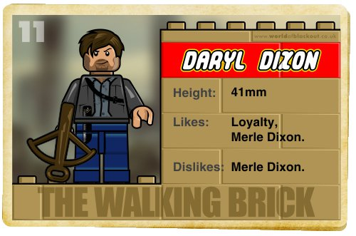 Slightly Inappropriate Lego #11 : Daryl Dixon