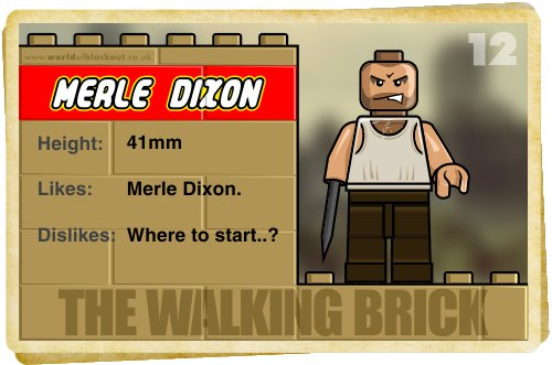 Slightly Inappropriate Lego #12 : Merle Dixon