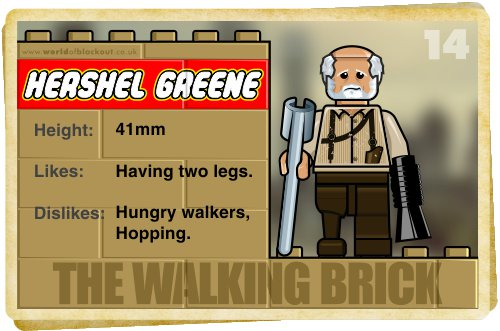 Slightly Inappropriate Lego #14 : Hershel Greene