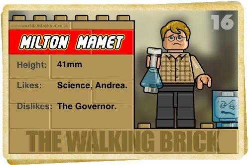 Slightly Inappropriate Lego #16 : Milton Mamet