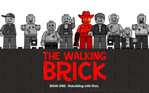 Slightly Inappropriate Lego: The Walking Brick ~ Book Cover