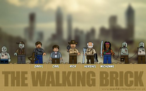 Slightly Inappropriate Lego: The Walking Brick ~ Good Guys