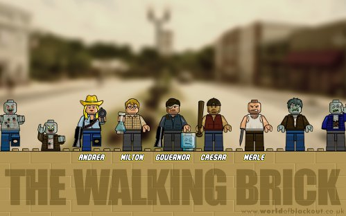 Slightly Inappropriate Lego: The Walking Brick ~ Bad Guys
