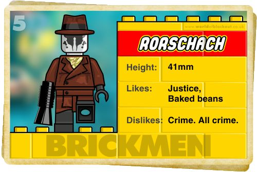 Slightly Inappropriate Lego #5 : Rorschach